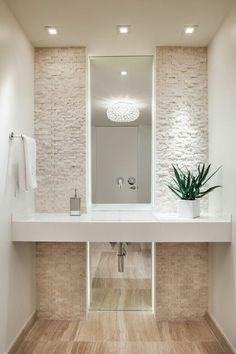 Rivestimenti in pietra nel bagno! 20 esempi bellissimi a cui ispirarsi…
