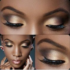 """Natural make-up on brown skin! Now if I could only perfect the art of… Maquillage naturel sur peau brune ! Maintenant, si je pouvais seulement perfectionner l'art de mettre de faux cils … Simply make-up [ """"naturalFull Shine Maquillage On Fleek, Maquillage Black, Dark Skin Makeup, Makeup For Brown Eyes, Natural Makeup, Dark Complexion, Dark Brows, Natural Nails, Make Up Tutorial Contouring"""
