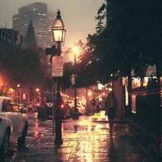 i love being out in a wet city at night