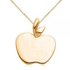 Alex woo little cities 14k rose gold apple pendant necklace 16185 allurez solid apple pendant necklace in plain metal 14k yellow gold 320 liked aloadofball Gallery