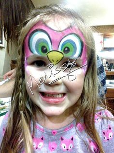 Owl face painting