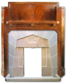 Art Deco Fireplace insert and mantel
