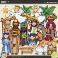 Hand-drawn illustrations for digital scrapbooking, crafting and teaching resources from Kate Hadfield Designs. Nativity Clipart, Nativity Crafts, Christmas Nativity, A Christmas Story, Christmas Art, Ukrainian Christmas, Christmas Ideas, Christian Christmas Crafts, Christmas Crafts For Kids