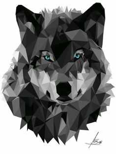 low poly wolf head, Wolf, Geometric, Poly, Polygon, Poster, Art, Illustration, Hiking, Forest, Kid Nursery, Mammal, Shapes
