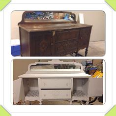 Before and after - chalk paint