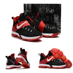 "February 17,2017 Shoes Nike LeBron 14 ""Bred"" Black Red"