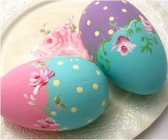painted Easter eggs - love tole painting! haven't done this in a long time