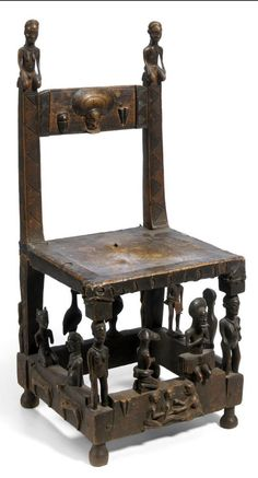 Africa   Chief's chair from the Chokwe people of Angola   Wood   Probably Moxico school