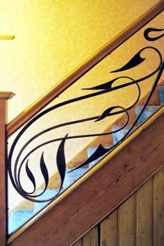 Contemporary Wrought Iron Stair Railings by Verdigris