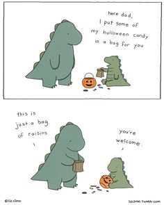 Liz Climo Rory the Dinosaur Me and My Dad comics halloween candy