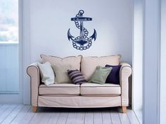 Nautical+Anchor+Housewares+Wall+Vinyl+Decal+Art+by+SuperVinylDecal,+$24.99