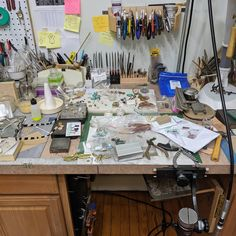 The current state of affairs... I'm coming, I'm coming, I promise. I just keep piling my ideas on top of each other on my work bench in hopes I don't forget them.  #handmadejewelry #silversmith