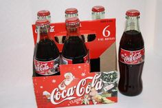 Coca Cola 2003 Holiday Santa 6 pack FULL $12.50 Coca Cola Bottles, Bottles For Sale, Polar Bears, Some Recipe, Coke, Merry Christmas, Santa, Canning, Holiday