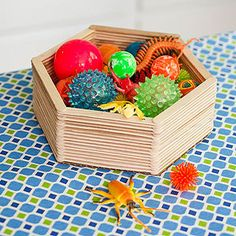Crafty Basket: No weaving is needed to make this wooden catchall, which is perfect for holding Mom's keys, pocket change, and more.