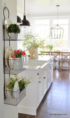 Simple Spring Decor  Kitchens and Farmhouse kitchens