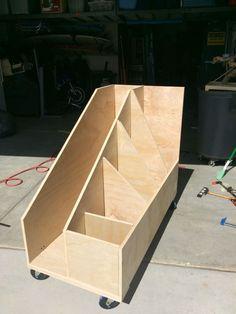 Rolling scrap wood cart                                                       …