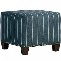 NEW at the angelo:HOME store - Square+Nailhead+Ottoman+in+Fritz+Indigo