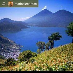 #Follow @mariaelenaross: #Lake #Atitlan and its #volcanoes - #LagoAtitlan #Guatemala #ILoveAtitlan #AmoAtitlan #Travel  by okatitlan