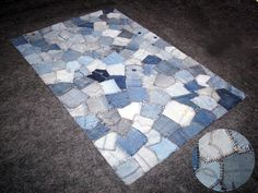 Denim rug -- saw something like this at Marshall's and thought it would be adorable in a little boy's room!!