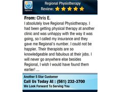 I absolutely love Regional Physiotherapy. I had been getting physical therapy at another...