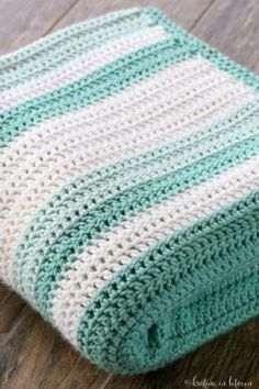Simple Granny Stripe Afghan