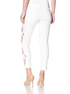 .......Trend...Driftwood Women's Embroidered Skinny Jean (White/Red)