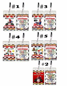 Super Mario Kart Brothers Birthday Party VIP invitation - ALL PARTY INVITES