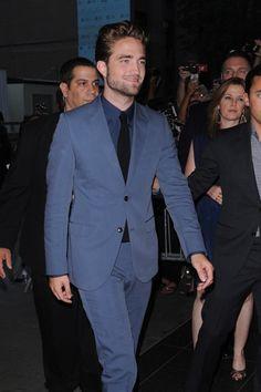 Kristen who? A smiling Robert Pattinson premieres Cosmopolis