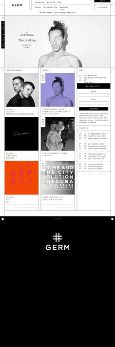 web design BUT like the idea behind the grid at the top. Links back to Bathory packaging.