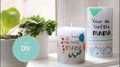 Mothers Day Presents, Creative Kids, Pillar Candles, Lemonade, Crafts For Kids, Projects To Try, Place Card Holders, Make It Yourself, Blog