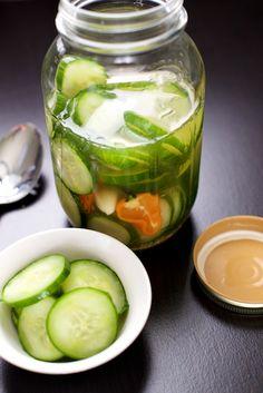 Easy Overnight Refrigerator Pickles #justeatrealfood #thatpaleocouple