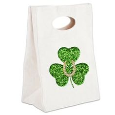 Glitter Shamrock And Horseshoe Canvas Lunch Tote > Lunch Bags > Atteestude T-Shirts And Gifts  #school supplies