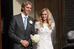 Poppy Delevingne! Today, the model-slash-socialite married James Cook at St. Paul's Church in Knightsbridge, London.
