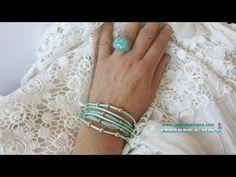 Cómo hacer pulseras de moda con colores del verano - YouTube