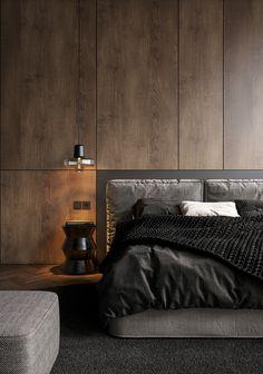 38 Ideas For Bedroom Modern Design Loft Beds Stylish Bedroom, Modern Bedroom, Modern Headboard, Diy Headboards, Minimalist Bedroom, Design Loft, Design Hotel, Modern Design, Studio Design