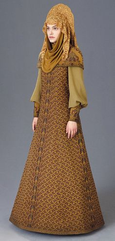 Queen Amidala's wardrobe was an interesting blend of cultures and time periods.