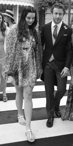 Lana Del Rey and Francesco Carrozzini at the wedding of Pierre Casiraghi and Beatrice Borromeo in Stresa, Italy #LDR