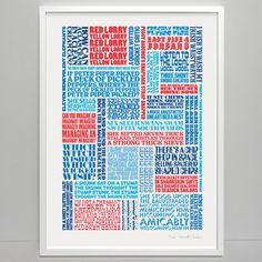 Tongue Twister Print — Stuart Gardiner Design
