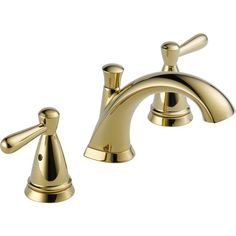 Peerless Bayside P99140LF-PB 2 Handle Widespread Bathroom Faucet Polished Brass