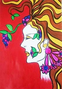 colorful Girl Painting