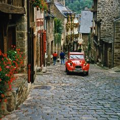 Dinan, France. Beautiful medieval historic town in Brittany.