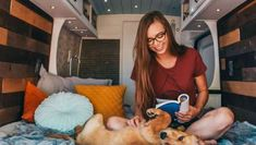 The best remote jobs you can have to fund your van life and get started towards your dream. These are actual jobs that can earn you a full- time income. Create Your Own Vans, Big Van, Cool Works, Airstream Renovation, Sprinter Camper, Living On The Road, Camper Van Conversion Diy, Cool Vans, Van Living