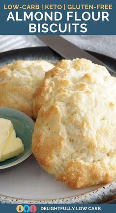 Almond Flour Biscuits, Almond Flour Bread, Baking With Almond Flour, Almond Flour Recipes, Keto Biscuits, Keto Flour, Healthy Biscuits, Almond Flour Cakes, Keto Pancakes