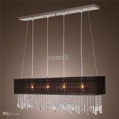 Wholesale Pendant Lamps - Buy Stylish Pendant Light Modern Crystal LED Chandelier Ceiling Light Fixture Lighting Crystal Chandelier Lamps Fa...