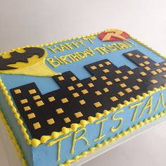Batman sheet cake