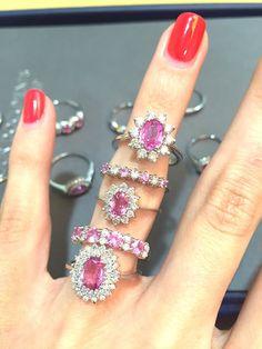 Pretty in pink! #thediamondstoreuk #pinksapphire #rings #jewellery #sparkle #sapphire #diamonds #love