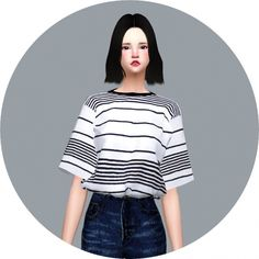 Tucked In Boxy Tee at Marigold • Sims 4 Updates