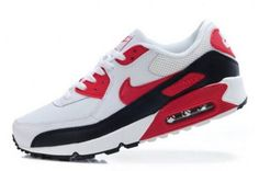 Nike Air Max 90 Mens White/Black-Varsity Red