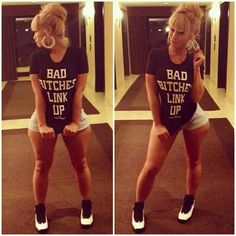 Maybe her legs aint right, but her style fo sho is. #BadBitchesLinkUp.!