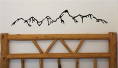 Teton Mountains Silhouette - would make a cool tattoo Mountain Outline, Mountain Silhouette, Mountain Tattoo, Wall Stickers, Wall Decals, Baby Room Decals, Teton Mountains, Picture Layouts, Wall Tattoo